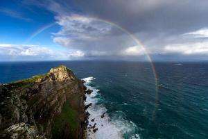 Stunning rainbow links the Indian and Atlantic Oceans, South Africa. Photo by Chris McLennan.